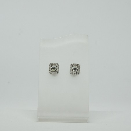 Boucles d'oreilles Acia- Diamants - Fermoir alpa