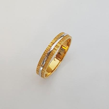 Bague Alliance Emiliane - Or jaune et or blanc
