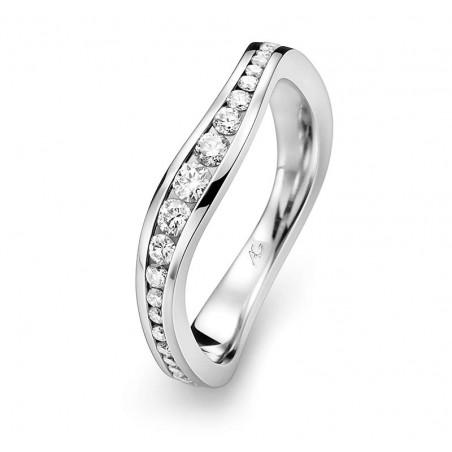 Bague-Alliance Evaelle - Diamants et or