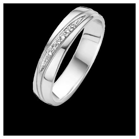 Bague Alliance Dabhia - Diamants et or