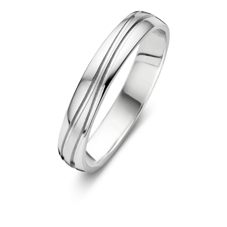 Bague Alliance Dael - Or blanc