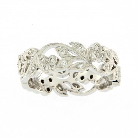 Bague Alliance Dalia - Diamants et or