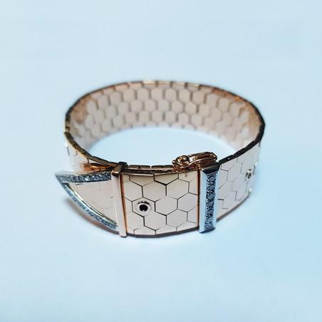 Bracelet Boucle-ceinture - Or et diamants