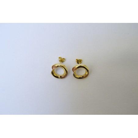 Boucles d'oreilles Dauriane - Or jaune et or rose