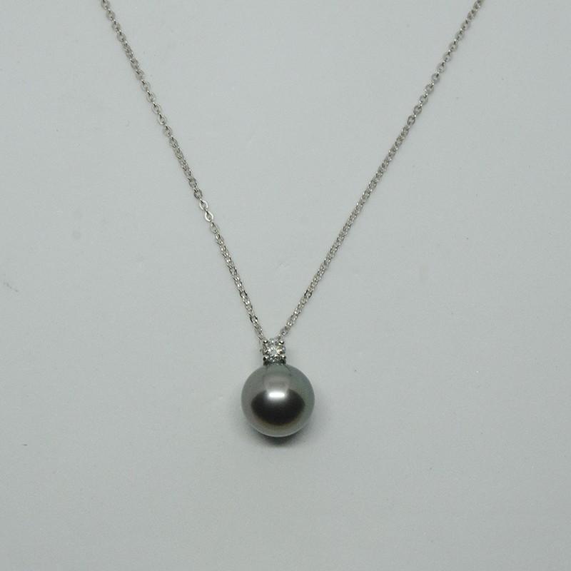 collier perle de tahiti argent