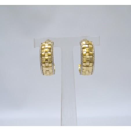 Boucles d'oreilles Dassine - Or jaune et or blanc
