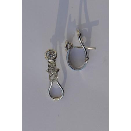 Boucles d'oreilles Denisia - Diamants et or blanc