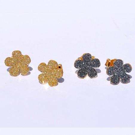 Boucles d'oreilles - Dhikra Or pailleté