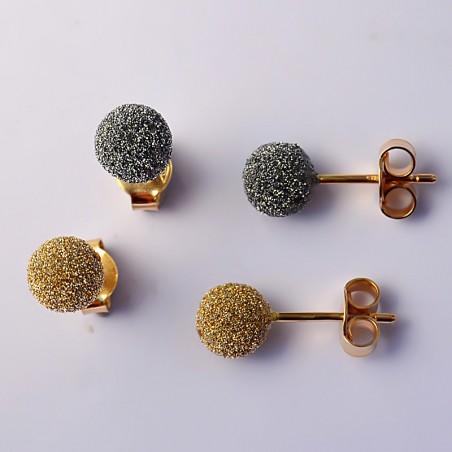 Boucles d'oreilles - Dhoha Or pailleté