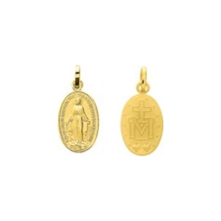 Médaille de la Vierge miraculeuse - Or jaune