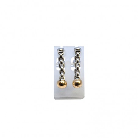 Boucles d'oreilles Alanis - Or rose, Or blanc.