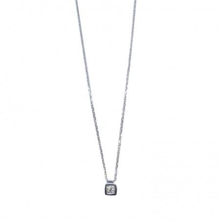 Collier Aenaelle - Diamant et or blanc