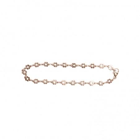 Bracelet bébé Capucine - Fleurs en or