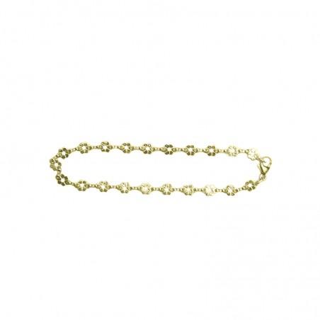 Chaîne de cheville Capucine - Fleurs en or