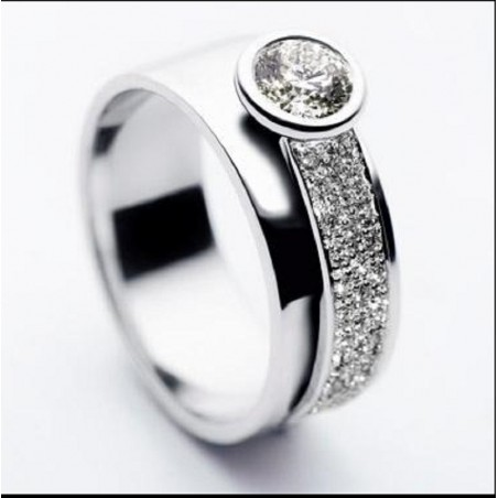 Bague Angelina - Diamant et or blanc