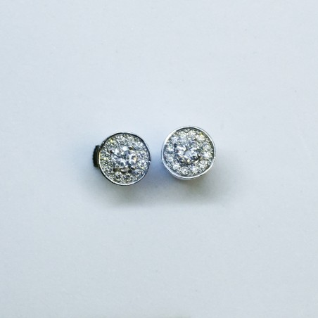 Boucles d'oreilles Acile - Diamants et or blanc
